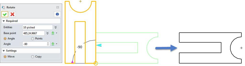 Sketch ribbon toolbar->basic Editing-> You can directly rotate the entities or rotate the entities combined with the copy function.