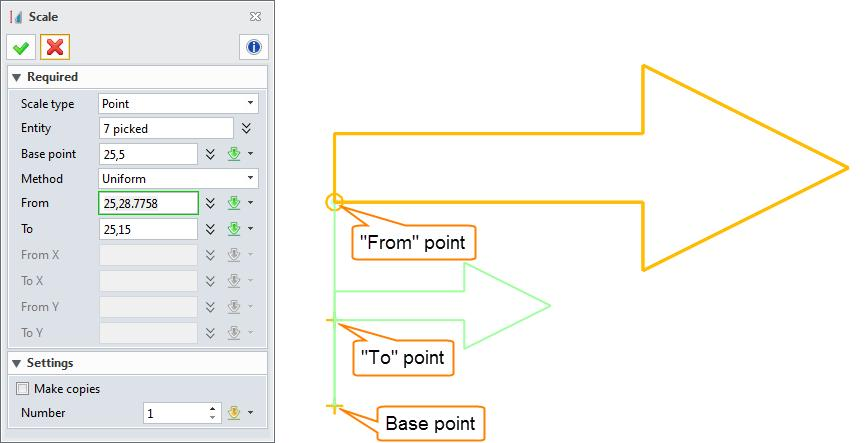 Notes: For point scale type, system automatically calculates the scale value according to the point s information.
