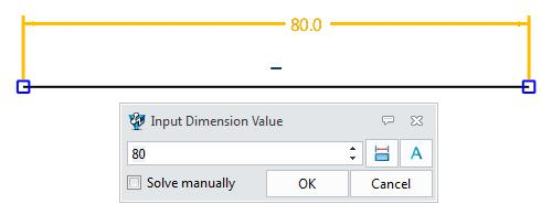 Method2: Right click the dimension, then pick modify value feature. Figure 92 Modify Dimension Value-Method2 Method3: Double click the dimension to modify the value.