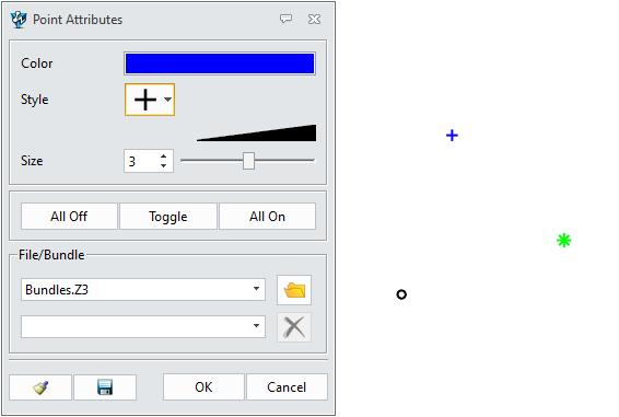 Figure 11 Set or modify point attribute Right click the points, then select the attribute feature to