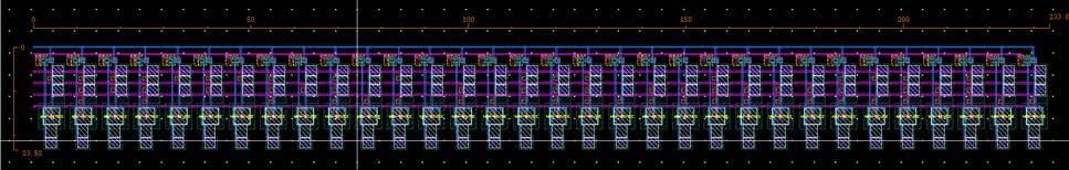 The layout of the ROM was minimized on the spacing of the capacitors required by the process.