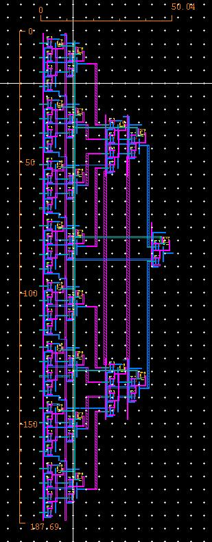 3.4 Layout of 32-bit Multiplexer The layout of the 32-bit Multiplexer is shown in Figure