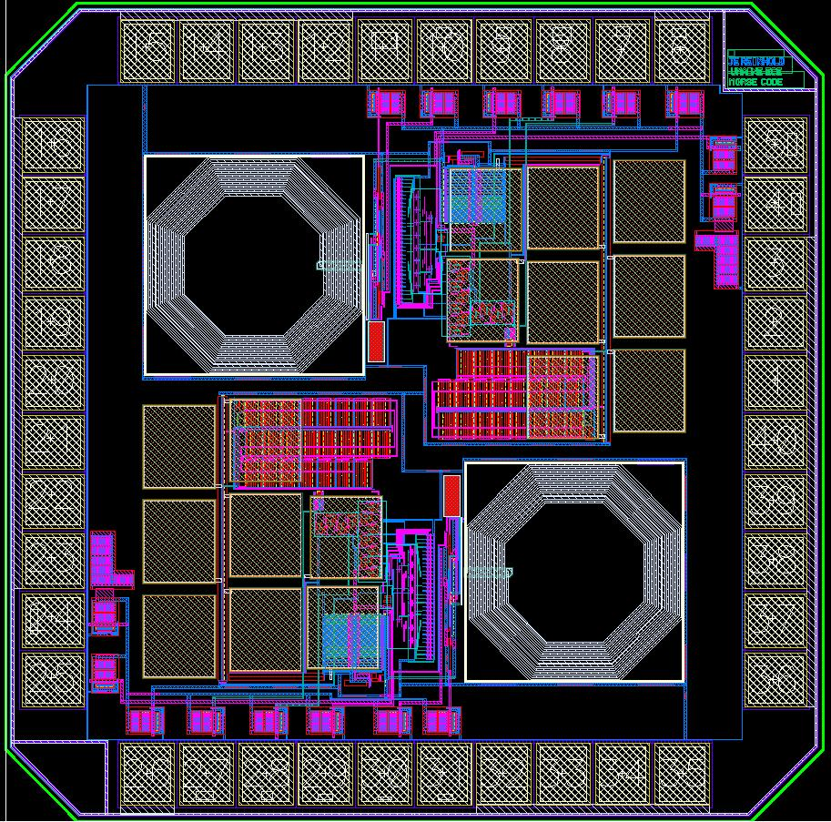 Figure 53: Full chip layout including two copies of the designed circuit References [1] Gray, Paul R.; Hurst, Paul J.; Lewis, Stephen H.; Meyer, Robert G.