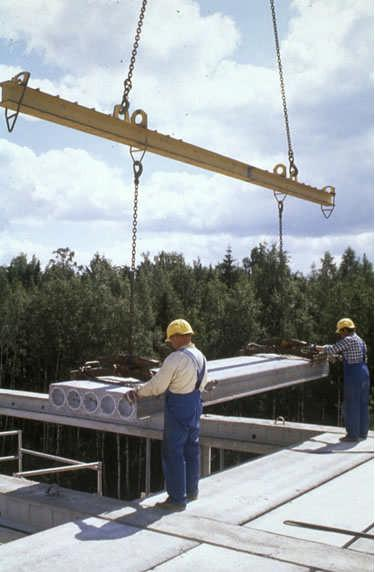 In design of precast members and connections, all loading and restraint conditions from casting to end use of the structure should be considered.