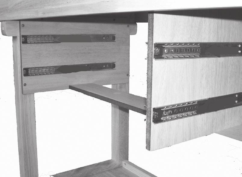 20. Fasten Drawer Bottom to Drawer Pack Panel.