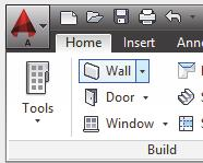 Place the walls as if you are drawing lines. 10. Go to the View ribbon. 11. Toggle on the Layout tabs. 12. Select the Work tab now visible in the lower left corner of the screen. 13.