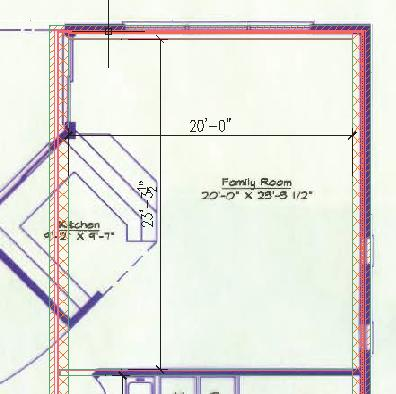 Floor Plans 37. Place the west family room wall.