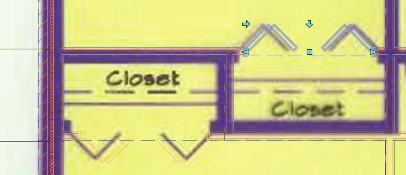 Place the Bifold - Double doors at the two closets.