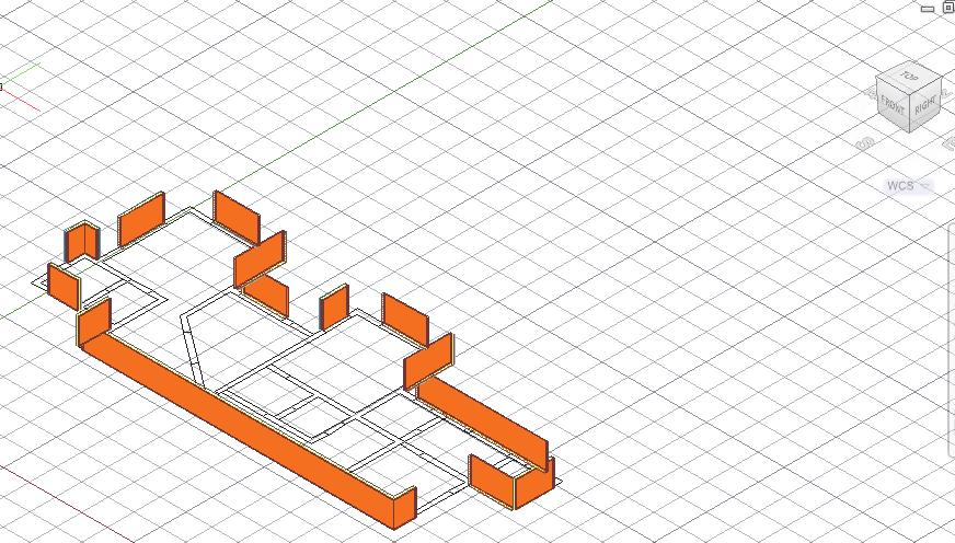 Autodesk AutoCAD Architecture 2015 Fundamentals 30. Switch to a 3D view. You should see 3D walls where you selected lines. 31.