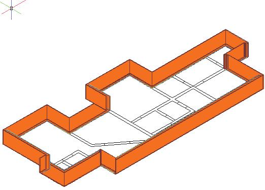 In the plan view, the exterior walls should form a closed figure. 33. Locate the Stud-4 GWB-0.625-2 Layers Each Side wall style.