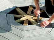 ") Using 2 1/2"" screws, fasten joist together. Use about three screws each place where the deck boards are left out."