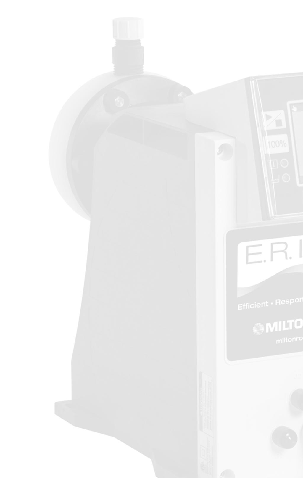 Features and Benefits Milton Roy is setting the standard for accuracy and reliability Milton Roy continues its commitment to innovation and technological advances with the introduction of the E.R.I.