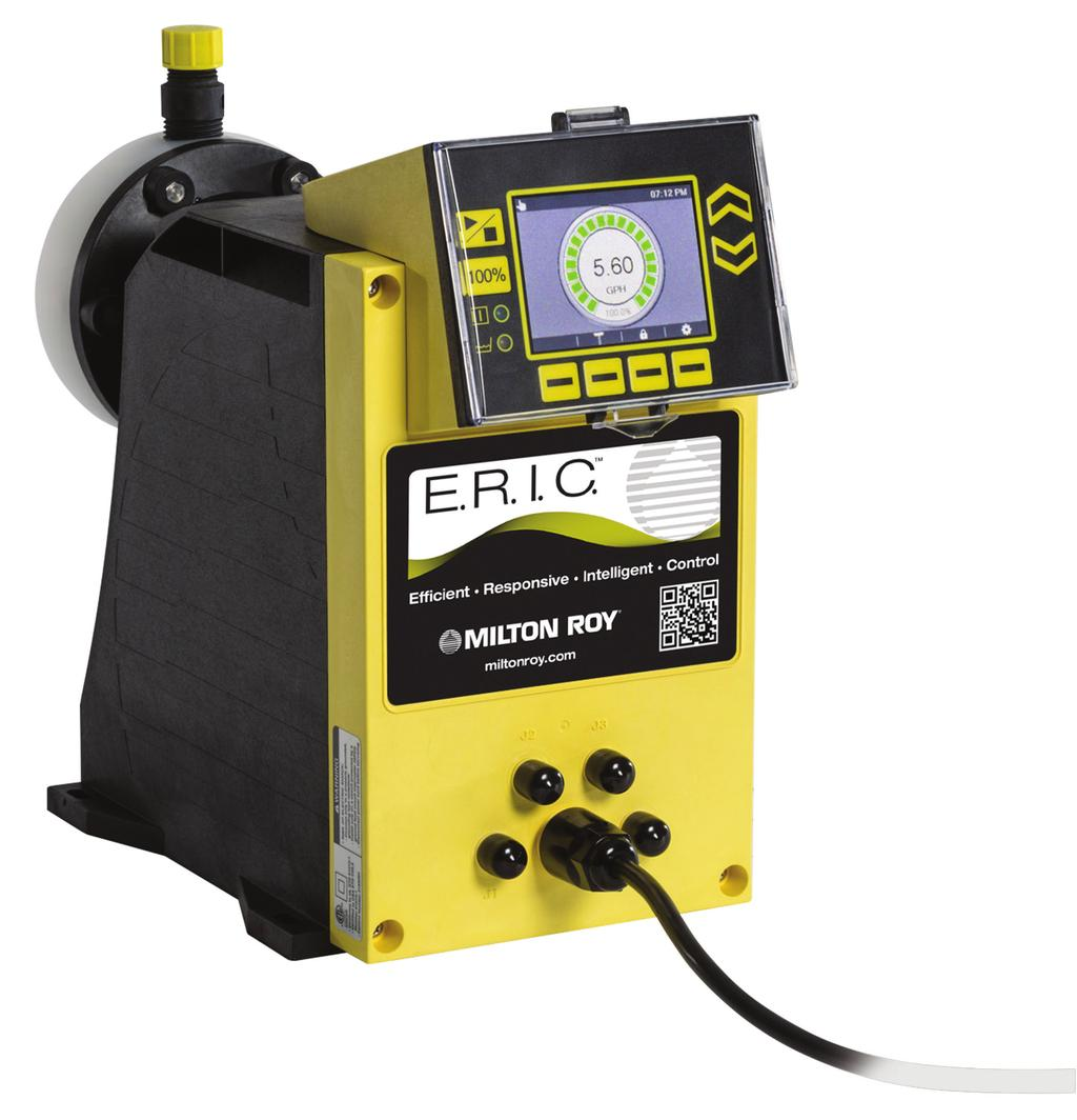 A comprehensive product offering: E.R.I.C. series flow rates extend from 0.006 to 18 GPH (0.
