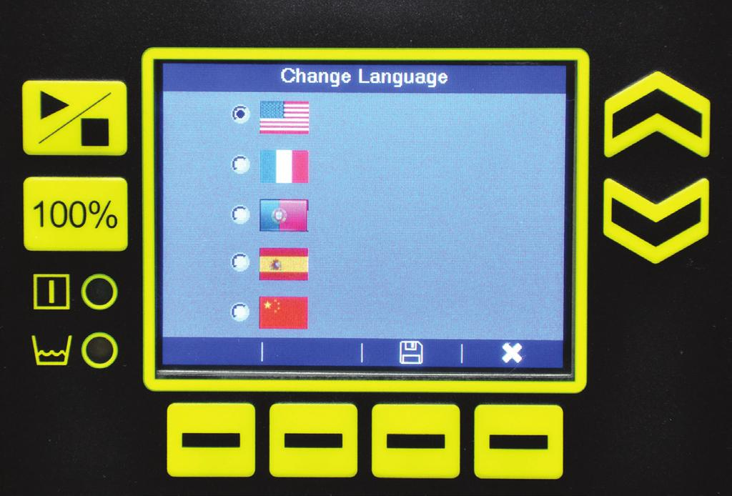 Multilanguage, user-friendly navigation E.R.I.C. s backlit color display allows for convenient navigation in five languages: English, French, Spanish, Portuguese, and Chinese.