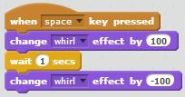 and then press the spacebar. Notice that the cat changes color each time you press the spacebar on your keyboard.