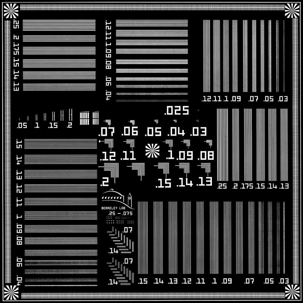 Test Pattern for Nanometer Soft X-Ray Imaging Courtesy
