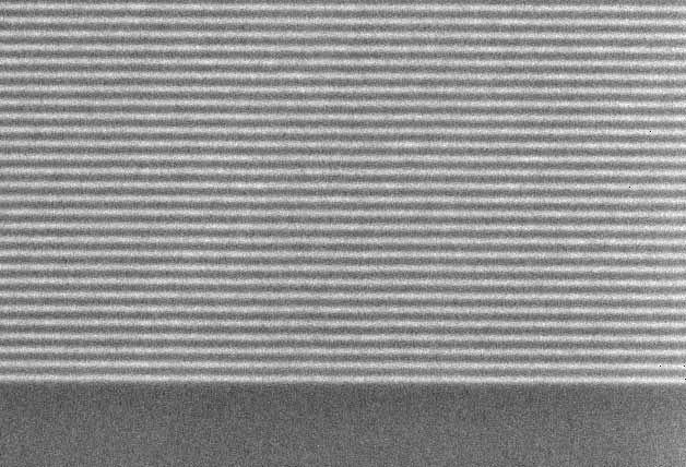 Multilayer Mirror Coatings Can Be Thinned and Used As Sub-20 nm Test Patterns SEM Micrograph of Cr/Si test pattern