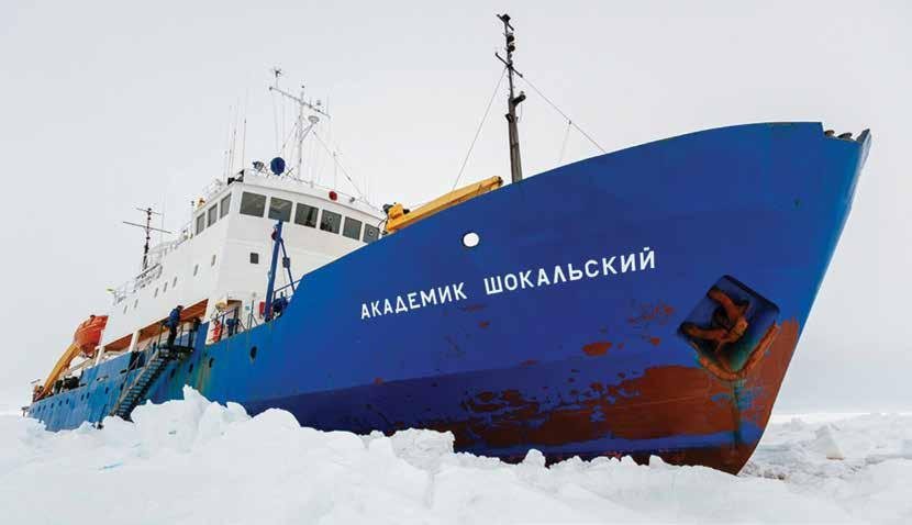 Breaking the Ice with Satellite Communications Not one of the 74 passengers and crew aboard the Russian ship MV Akademik Shokalskiy would have dreamt of the frigid fortnight they were about to endure