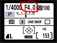 APERTURE SETTING ON YOUR DIGITAL CAMERA 4 We recommend for at least a week, set your camera to Aperture priority until you fully understand what this setting does.