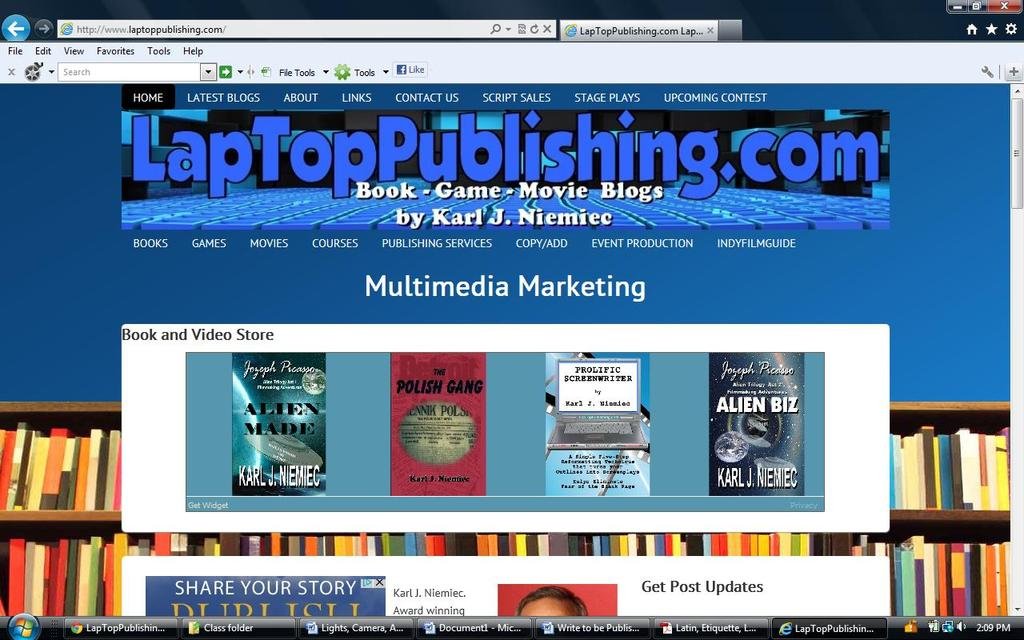 This is my website. LapTopTopPublishing.com http://www.laptoppublishing.com/ KJN@LapTopPublishing.