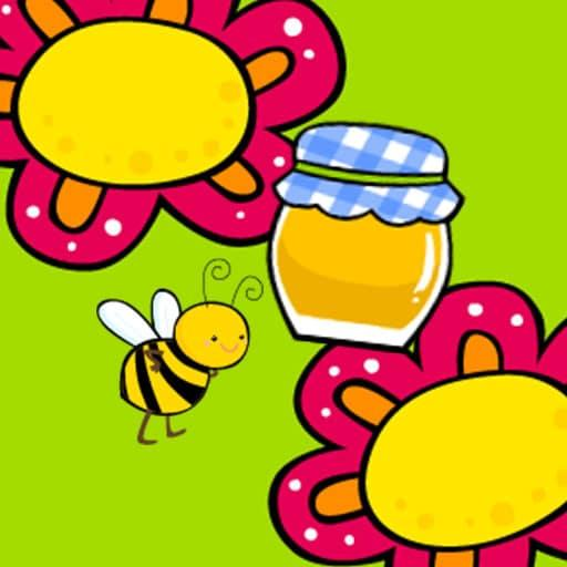 Bear and honey Jump on any flower and collect as many honey pots as you can.