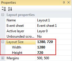 Once selected go back over to the Properties bar, where it's showing the Layout properties