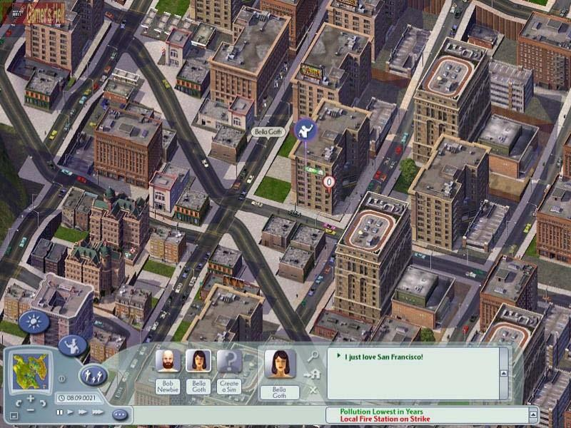 Innovation vs. Familiarity Screen shot of SimCity 4.