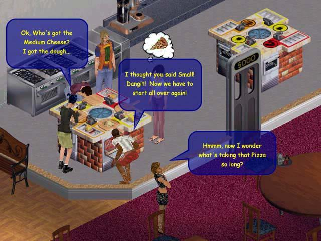Realism vs. Fun Screen shot from the Sims Online.