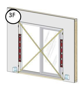This is used to hold the window in place while shimming it plumb, level and square. Note: DO NOT slide the bottom of the window into the opening, as sliding may damage the sealant lines. F.