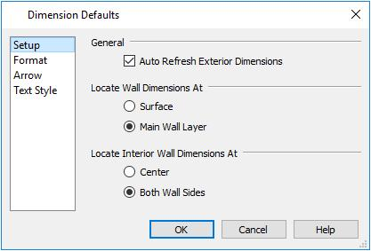 Setting Defaults Wall Defaults The Wall Defaults dialogs let you specify the thickness, materials, and other characteristics of the walls that are drawn by each of the Wall Tools.