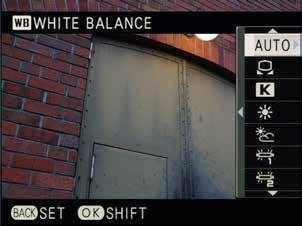 White Balance / AUTO The [AUTO] setting is recommended for White Balance in regular shooting. It reproduces accurate color temperature under lighting conditions with various light sources.