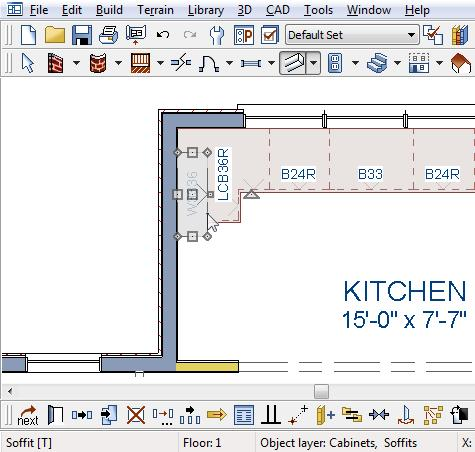 Chief Architect X6 User s Guide When objects are very close to one another or occupy the same vertical space in floor plan view, it may be difficult to select the intended object.