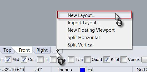 Adding the Layout and Inserting a Title Block 1. To add a new Layout, go to the View menu, select Layout and New Layout. Or click New Layout from the Layout toolbar.