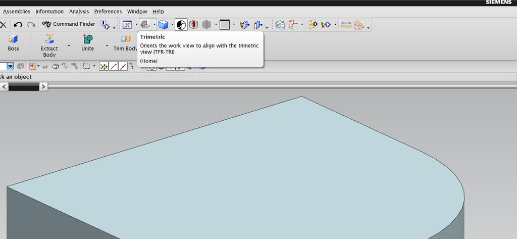 Once highlighted, left-click to select the profile. This will set the Curve and Vector in the Extrude dialog.