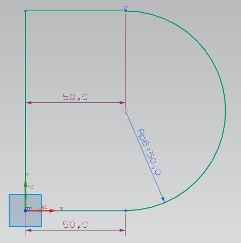 Editing Dimensions You may be wondering why NX puts all the dimensions on the sketch. Double-click the R25,0 dimension. This will open a dialog that lets you change the radius of the circle.