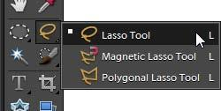Using the lasso tools To make very precise selections that contain a range of colors, use the lasso tools (Figure 31).