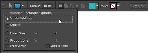 To draw a rectangle, square, or rounded rectangle: 1. Open the Editor in the Standard Edit workspace. 2. In the toolbox, select the Rectangle tool or the Rounded Rectangle tool (Figure 1).