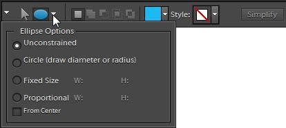 To draw a circle or ellipse: 1. Open the Editor in the Standard Edit workspace. 2. In the toolbox, select the Ellipse tool.