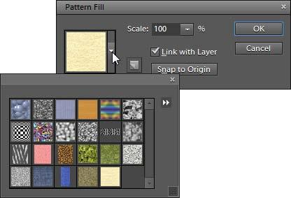 Pattern fill layers offer a range of interesting possibilities for applying texture and interest to your images. To create a pattern fill layer: 1.