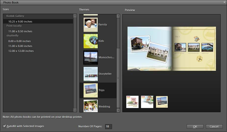 Creating a photo book Photo books let you add various layouts and designs to your images.