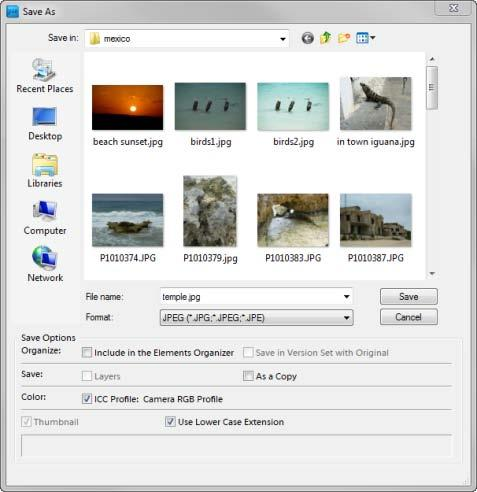 How to export to print and web Once you finish editing your images or creating projects from these images, you can export images in formats for print (PDF) and the web (JPEG, GIF, or PNG).