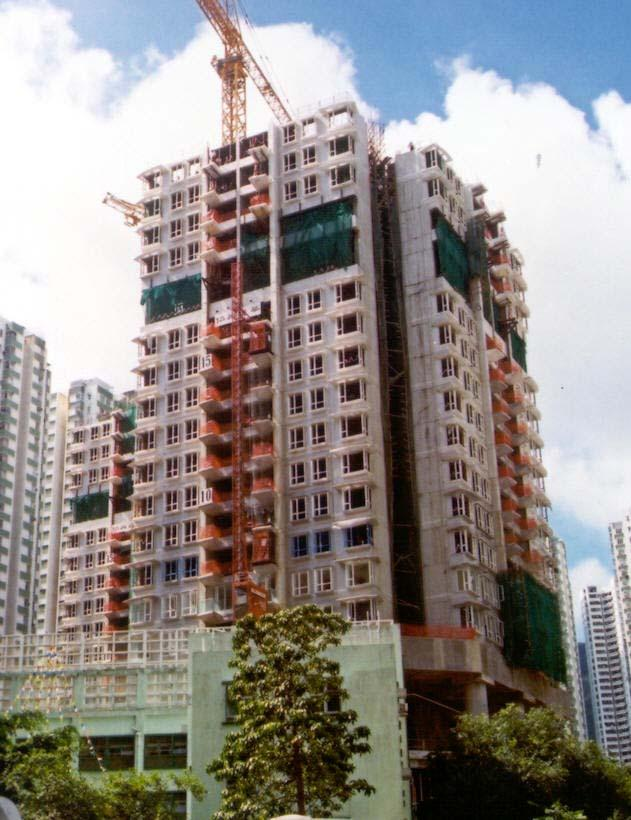 Residential Development at Taikoo Valley Construction features the use of large amount of precast units both of