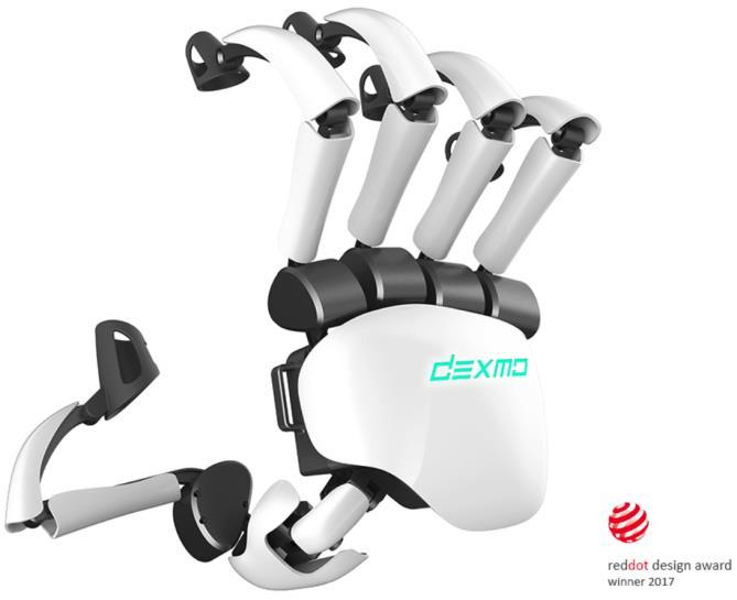 DEXMO Development Kit 1 User Manual [V2.3] 2017.04 Introduction Dexmo Development Kit 1 (DK1) is the lightest full hand force feedback exoskeleton in the world.