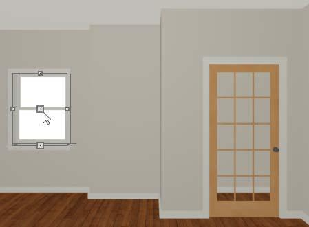 Home Designer Architectural 2015 User s Guide 5. On the Frame & Lites panel, set the Frame Bottom to 8 inches.