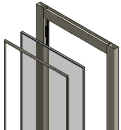 Section 3. Door Glass Installation B. With the Door Leaf Vertical NOTE: These steps describe glazing a door without a mid-rail.