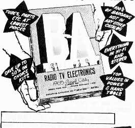 "DEGREE www.americanradiohistory.com Positive Feedback ó roars Aerfs GIANT NEW 1965 CATALOG RADID 1 111;T', ELEC""ICS 96.....-,...e 100's OF BIG PAGES CRAMMED WITH SAVINGS BURSTEIN-APPLEBEE CO. Dept."
