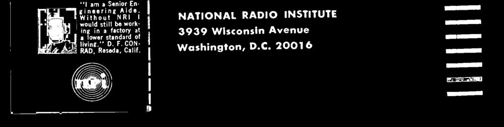 BY NATIONAL RADIO INSTITUTE 3939 Wisconsin Avenue Washington, D.C.