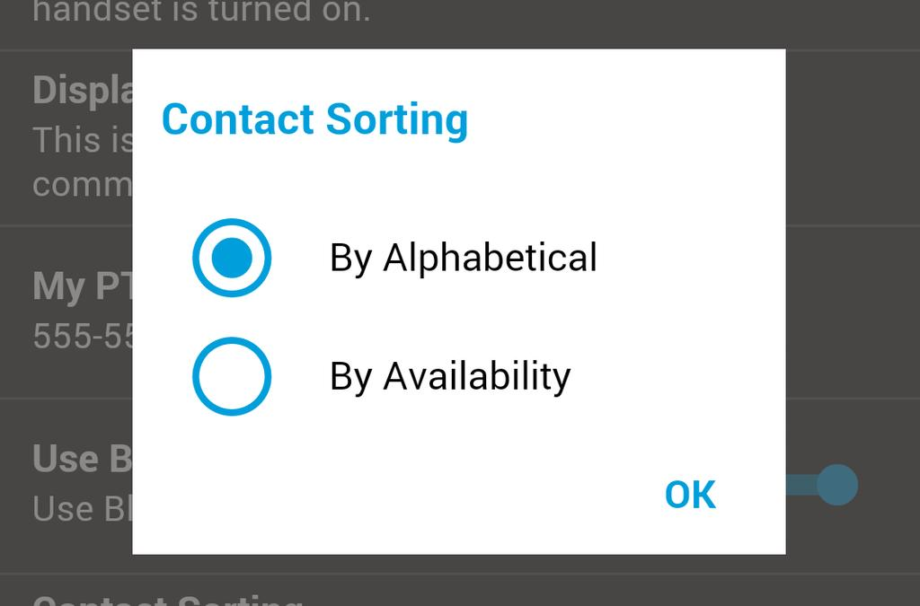 The contact list will update each time a contact changes from online to offline or vice versa. 1. From within the EPTT application Main screen, tap the Menu. 2.