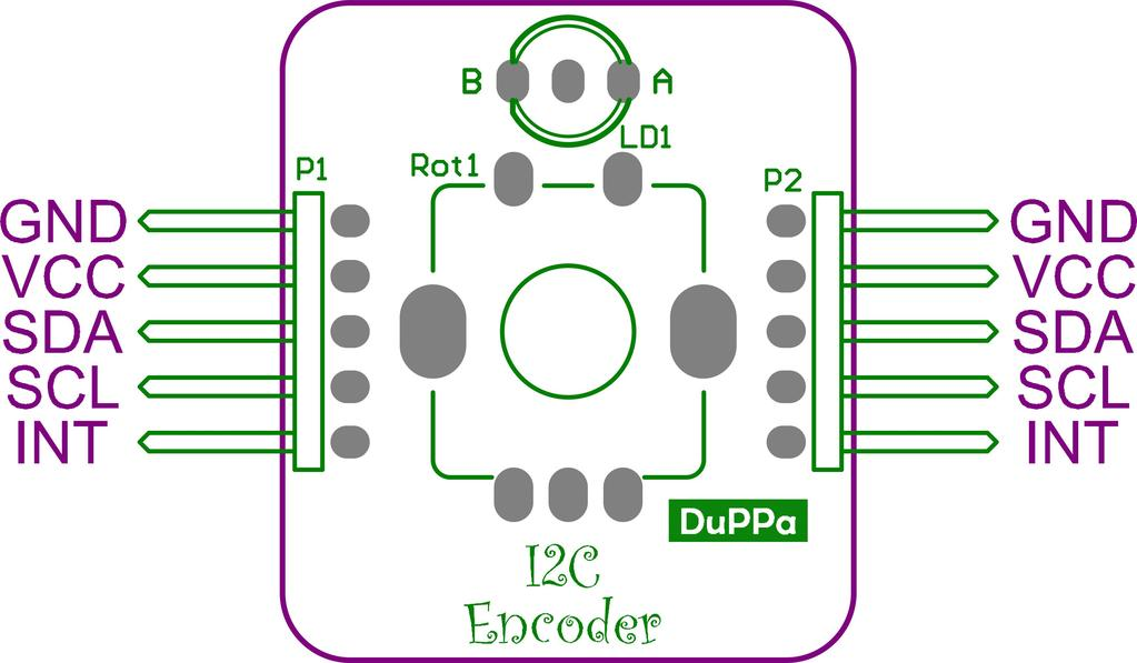 1.1 Electrical characteristics 1.2 Connection Figure 1.4 shows the pin out of the I2C Encoder. Parameter Symbol Min Max Supply voltage V DD 2.5V 5V I 2 C input-low level V IL 0 0.