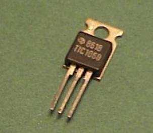 The Thyristor A three-legged component very similar to the Transistor, except it can latch on.